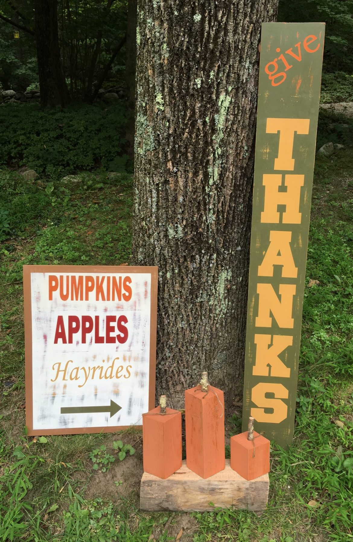 How to make your own diy fall decor, diy wooden pumpkins and signs