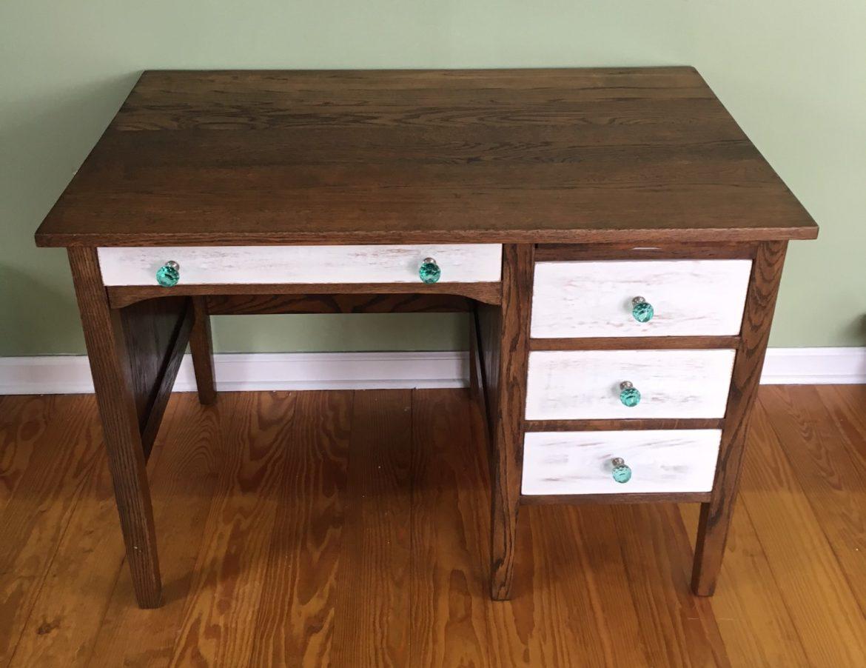 Magnificent Oak Desk Refinish From Splinter To Splendid Download Free Architecture Designs Scobabritishbridgeorg